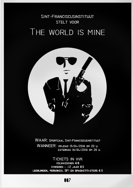 Poster toneel the world is mine